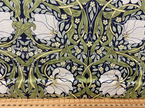 fabric shack sewing quilting sew fat quarter cotton patchwork william morris v & a victoria and albert classic floral flowers pimpernel blue nights 2
