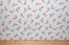 fabric shack sewing quilting sew fat quarter cotton poplin quilt patchwork dressmaking rosebud rose ditsy kitsch green cream ivory flower floral (2)