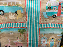 fabric shack sewing quilting sew fat quarter cotton quilt beth albert 3 three wishes beach travel panel 4 plate panel