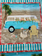 fabric shack sewing quilting sew fat quarter cotton quilt beth albert 3 three wishes beach travel panel campervan camper van vw
