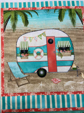 fabric shack sewing quilting sew fat quarter cotton quilt beth albert 3 three wishes beach travel panel caravan