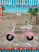 fabric shack sewing quilting sew fat quarter cotton quilt beth albert 3 three wishes beach travel panel moped bike