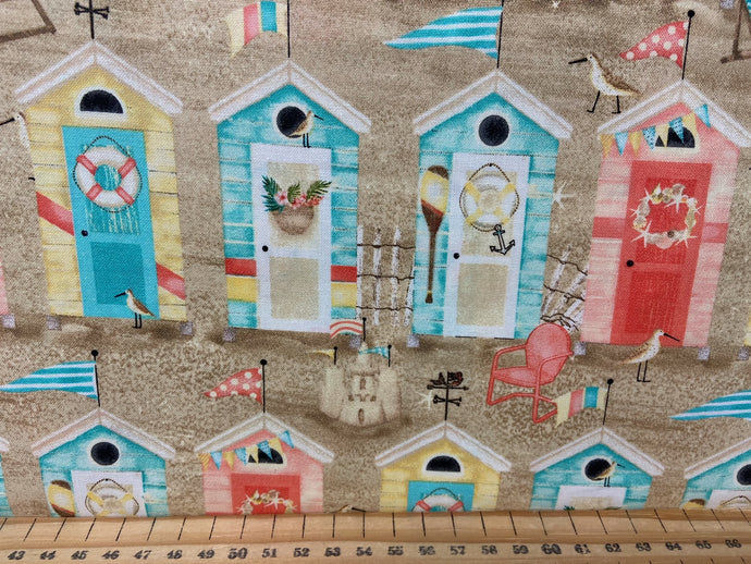 fabric shack sewing quilting sew fat quarter cotton quilt beth albert 3 three wishes beach travel surf boards beach huts