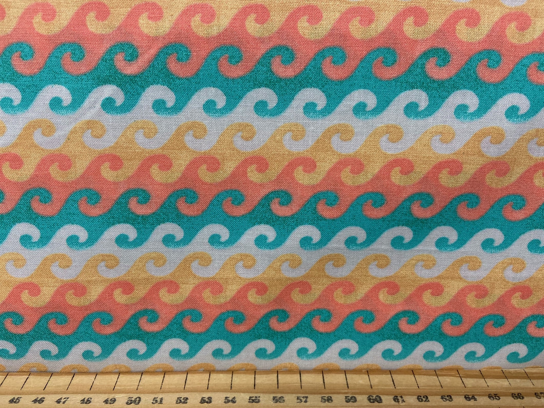 fabric shack sewing quilting sew fat quarter cotton quilt beth albert 3 three wishes beach travel waves