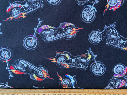 fabric shack sewing quilting sew fat quarter cotton quilt elizabeth elizabeth's studio in motion dirt motorbike hot wheels motorcross bike helmet