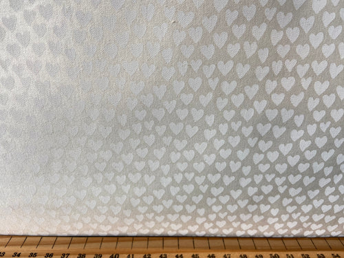 fabric shack sewing quilting sew fat quarter cotton quilt john louden tone on tone cream hearts love ecru off white