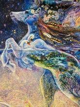 fabric shack sewing quilting sew fat quarter cotton quilt josephine wall for 3 three wishes celestial journey large mega panel unicorn fairy swan