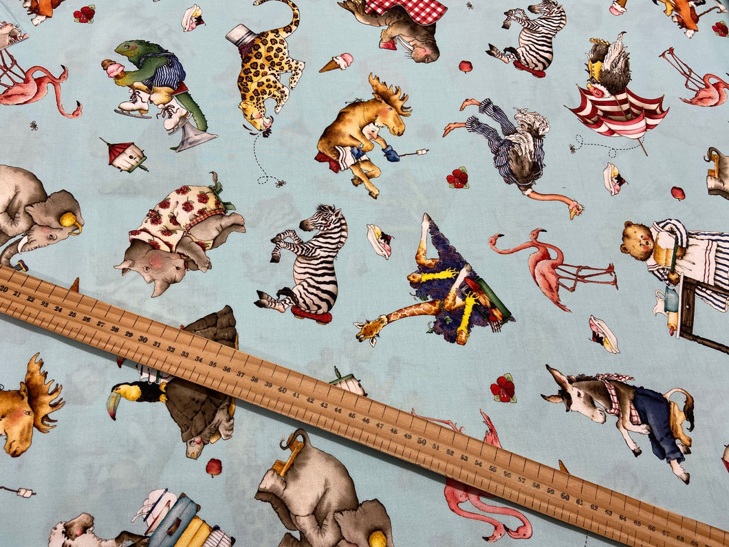 fabric shack sewing quilting sew fat quarter cotton quilt j wecker frisch riley blake hungry animal alphabet quiet book panel animals zoo exotic zebra rhino hippo zebra 11