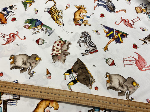 fabric shack sewing quilting sew fat quarter cotton quilt j wecker frisch riley blake hungry animal alphabet quiet book panel animals zoo exotic zebra rhino hippo zebra 12