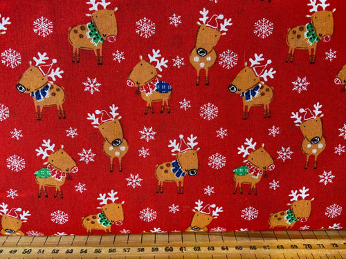 fabric shack sewing quilting sew fat quarter cotton quilt patchwork christmas holidays fun owl christmas tree rudolph reindeer snowflake trees caravan owl santa father 3