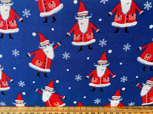 fabric shack sewing quilting sew fat quarter cotton quilt patchwork christmas holidays fun owl christmas tree rudolph reindeer snowflake trees caravan owl santa father 5