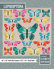 fabric shack sewing quilting sew fat quarter cotton quilt patchwork elizabeth hartman block piece Lepidoptera butterfly butterflies (2)