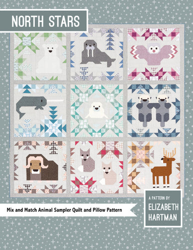 Elizabeth Hartman 'North Stars' Sampler Quilt & Pillow Pattern