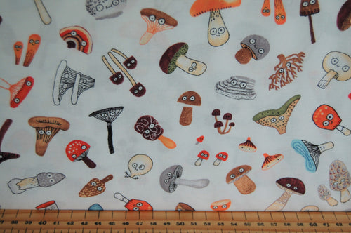 fabric shack sewing quilting sew fat quarter cotton quilt patchwork elsie gravel michael miller mushrooms funghi toadstools woodland animals trees (12)