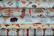 fabric shack sewing quilting sew fat quarter cotton quilt patchwork elsie gravel michael miller mushrooms funghi toadstools woodland animals trees