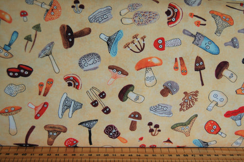 fabric shack sewing quilting sew fat quarter cotton quilt patchwork elsie gravel michael miller mushrooms funghi toadstools woodland animals trees (2)