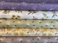 fabric shack sewing quilting sew fat quarter cotton quilt patchwork lewis & and irene botanic botanical garden bumble bee bees honey floral flower rose dog victorian walled light yellow lemon