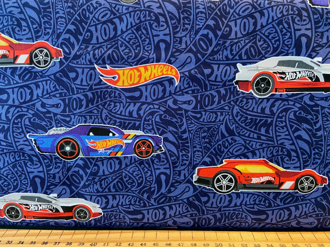 fabric shack sewing quilting sew fat quarter cotton quilt riley blake mattel hot wheels racing die cast toy cars track dare to be rad 3