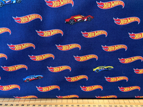 fabric shack sewing quilting sew fat quarter cotton quilt riley blake mattel hot wheels racing die cast toy cars track dare to be rad