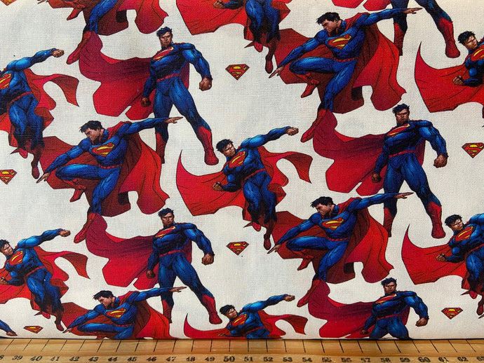 fabric shack sewing quilting sew fat quarter cotton quilt superman dc comics