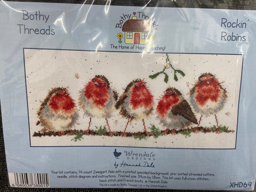 Hannah Dale Wrendale Designs for Bothy Threads 'Rockin' Robins' Christmas Cross Stitch Kit