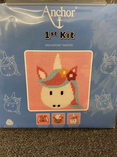 fabric shack sewing sew tapestry needlepoint kits kit first 1st childs kids magic unicorn 20029