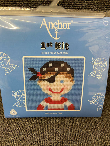 fabric shack sewing sew tapestry needlepoint kits kit first 1st childs kids oliver pirate 20008