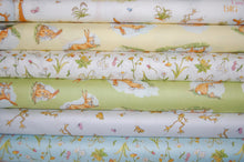 fabric shack sewing quilting sew fat quarter cotton quilt patchwork anita jeram clothworks guess how much I love you when I'm im big rabbit bunny bunnies frogs daffodils