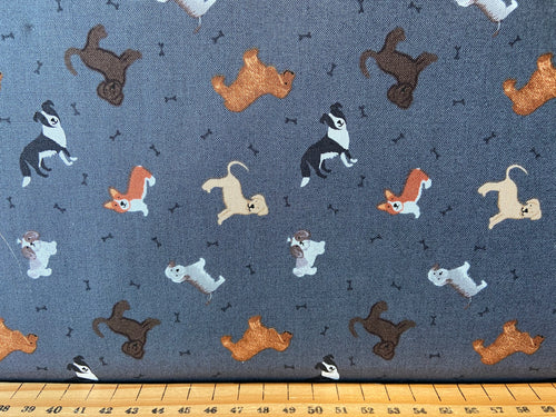 fabric shack sewing quilting sew fat quarter cotton quilt lewis & and irene small things pets tortoise rabbit guinea pig parrot cockatoo budgie budgerigar dog collie labrador corgi cat shih tzu