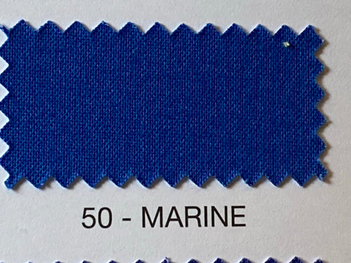Rose & Hubble 'Plain Cotton Basics' Marine Blue 50