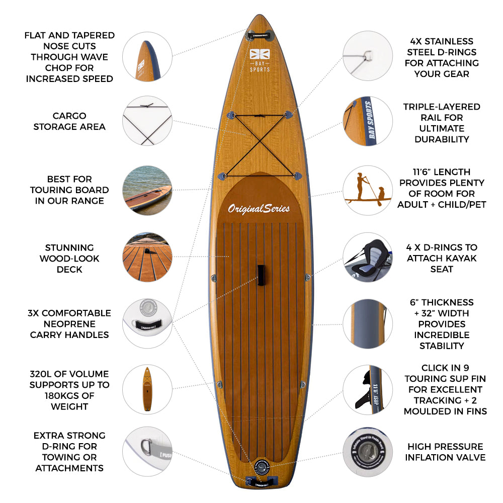 11'6 Original Series - Inflatable Stand Up Paddle Board key features