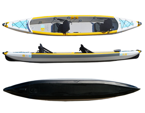 Bay Sports air glide 473 tandem inflatable drop stitch kayak