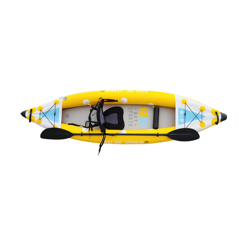 air glied 285 single seater 100% drop stitch floor inflatable kayak
