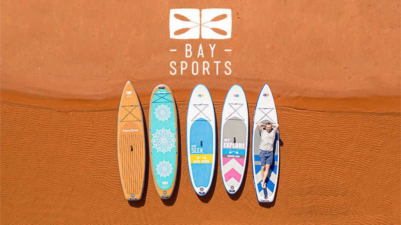 Bay Sports range of inflatable stand up paddle boards