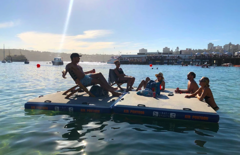 Bay Sports Air Pontoons on water Manly