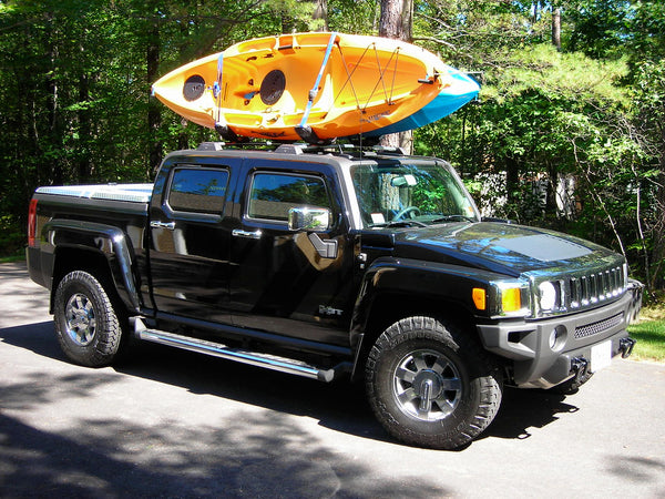 Kayak on roof rack