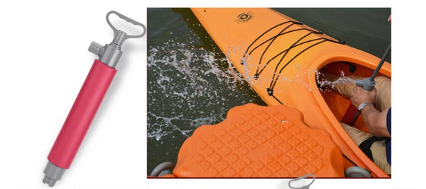 How does a kayak bilge pump work