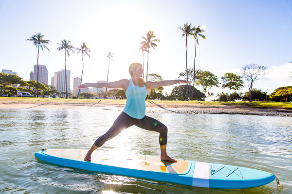 warrior two sup yoga