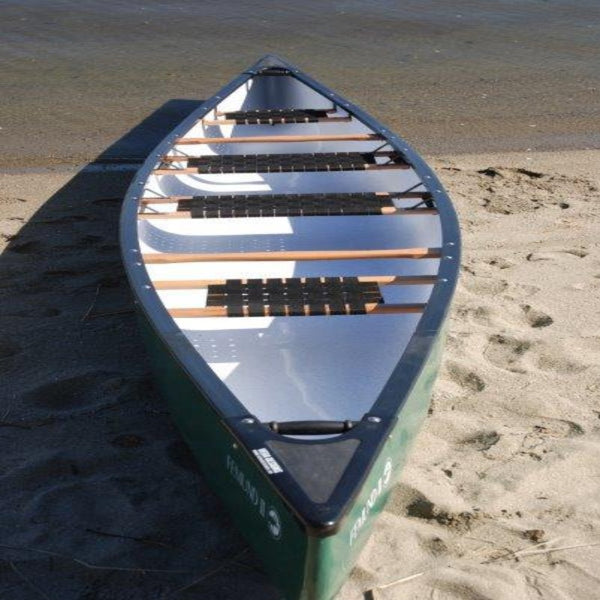 Escapade 400 - 4.86m 4-Person Canoe front view