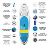 "10'8"" BasiX Series - Inflatable Stand Up Paddle Board key features"