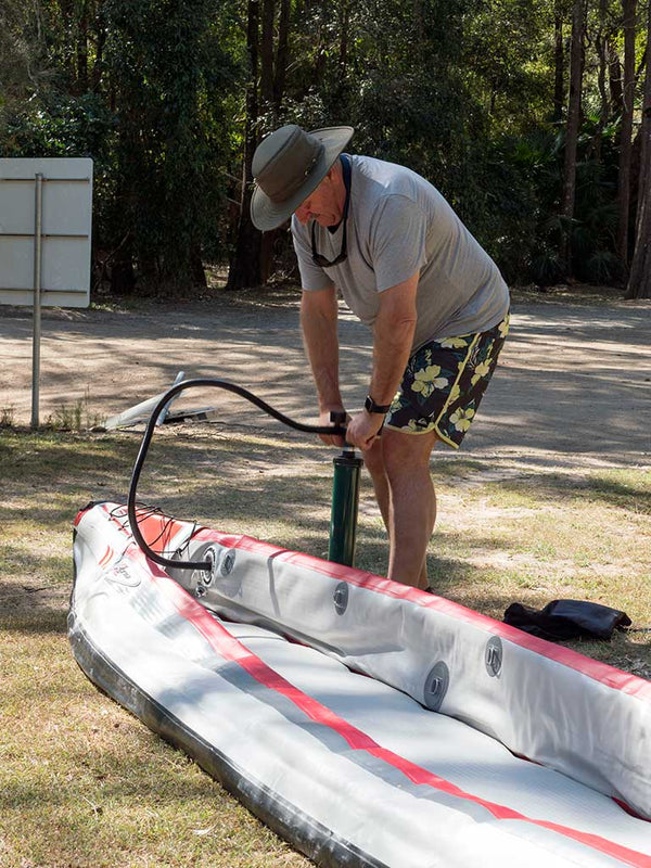 KXone Slider 485 Drop Stitch Inflatable Kayak Inflation Stage 2