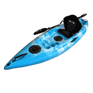 Bay Sports The Flounder 2.6m Sit on Top Small Recreational Kayak White Blue