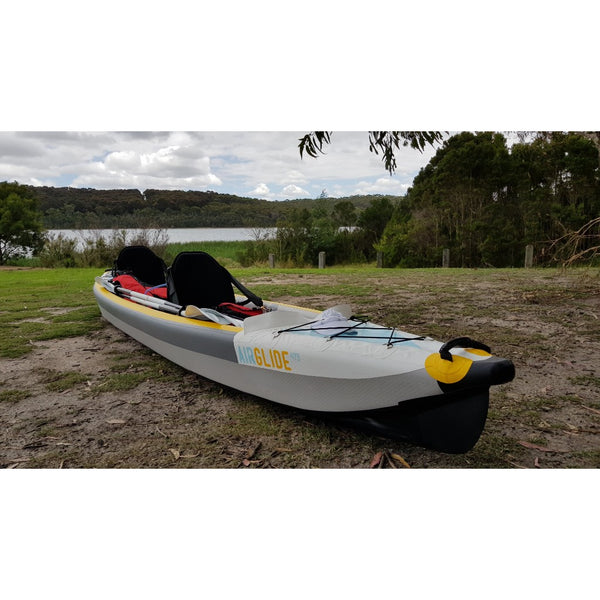 Bay Sports 100% Drop Stitch INflatable Air Glide 473  Kayak On Land