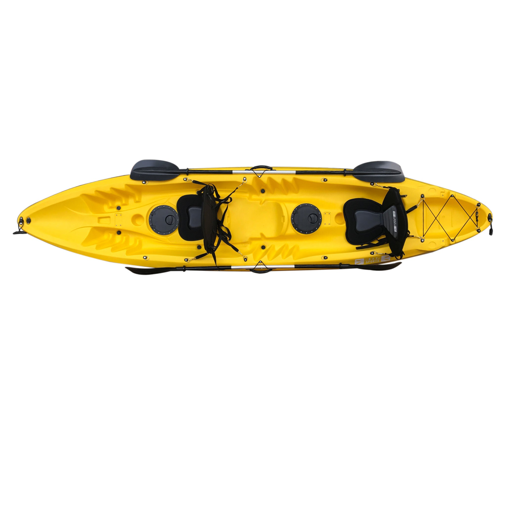 Bay Sports Nereus Yellow Tandem 2 Person Kayak Top View