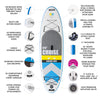 Bay Sports 9'6 CRUISE Inflatable Stand Up Paddle Board key features