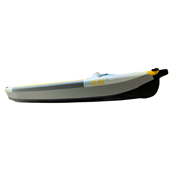 Air Glide 385 - 100% Drop Stitch Single Inflatable Kayak Side Angle View