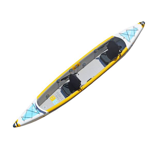 BAY SPORTS Air Glide 473 4.73m Drop Stitch Inflatable Kayak (aerial view)