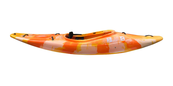 Bay Sports Gladiator White Water Kayak (side) Yellow Orange