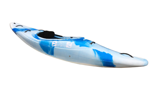 Bay Sports Gladiator White Water Kayak (side) White Blue
