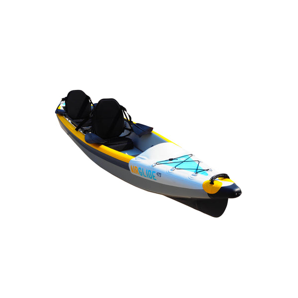 BAY SPORTS Air Glide 473 4.73m Drop Stitch Inflatable Kayak (front angle view)